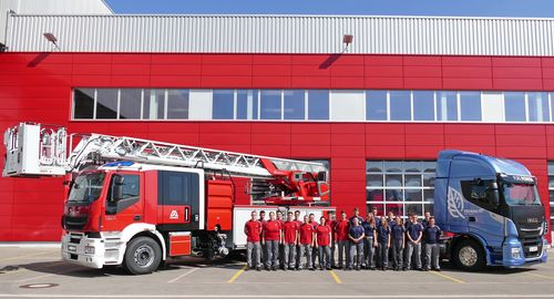 New apprentices at the site of Magirus and Iveco in Ulm, Germany