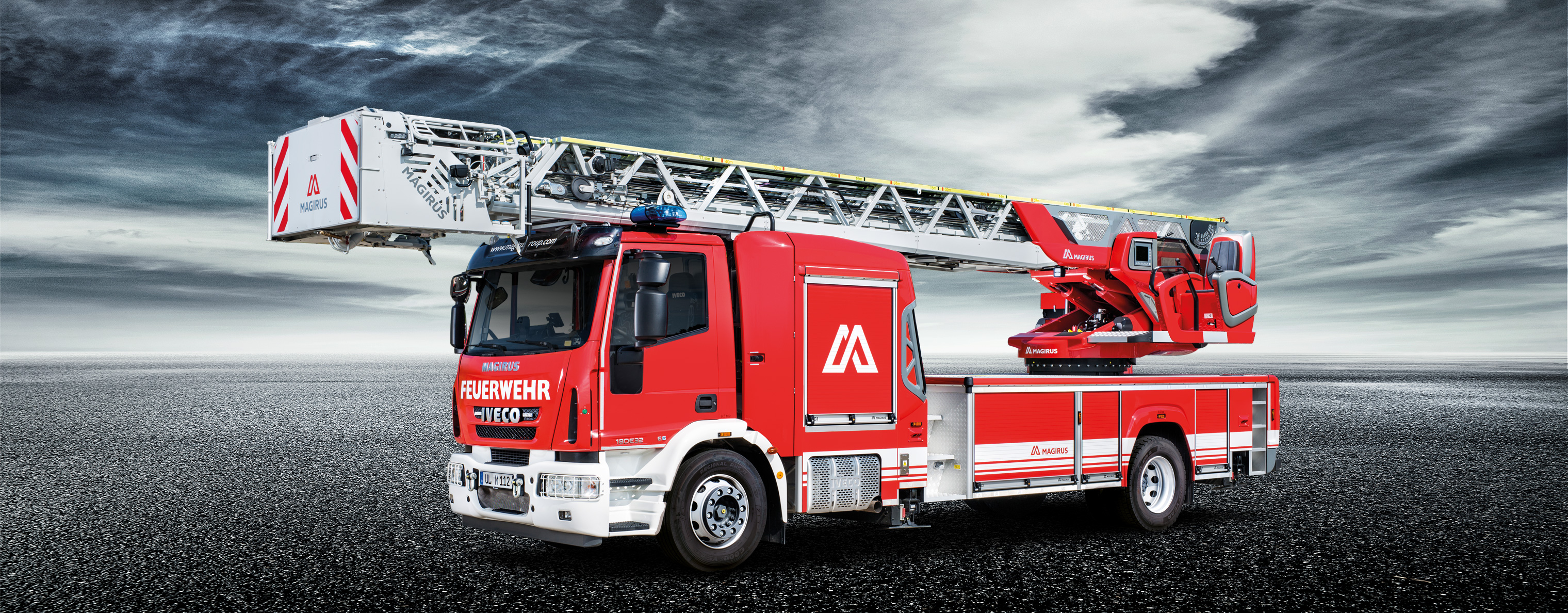 magirus turntable ladder m42l is fast and extremely secure